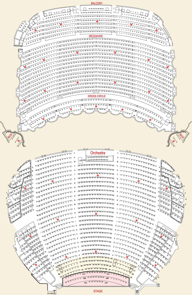 Boston opera house seating chart theatre in boston