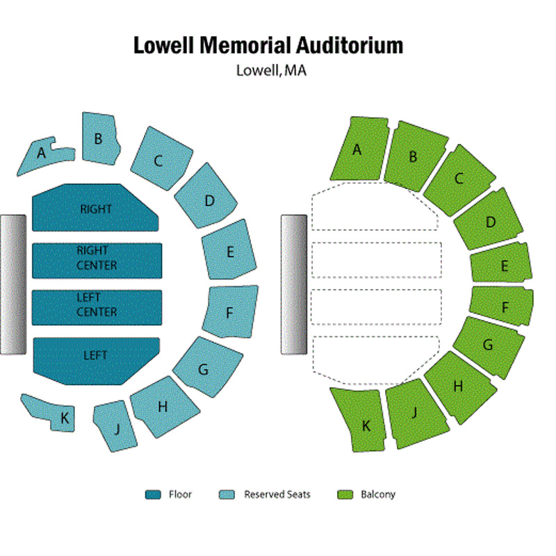 Lowell Memorial Auditorium Seating Chart