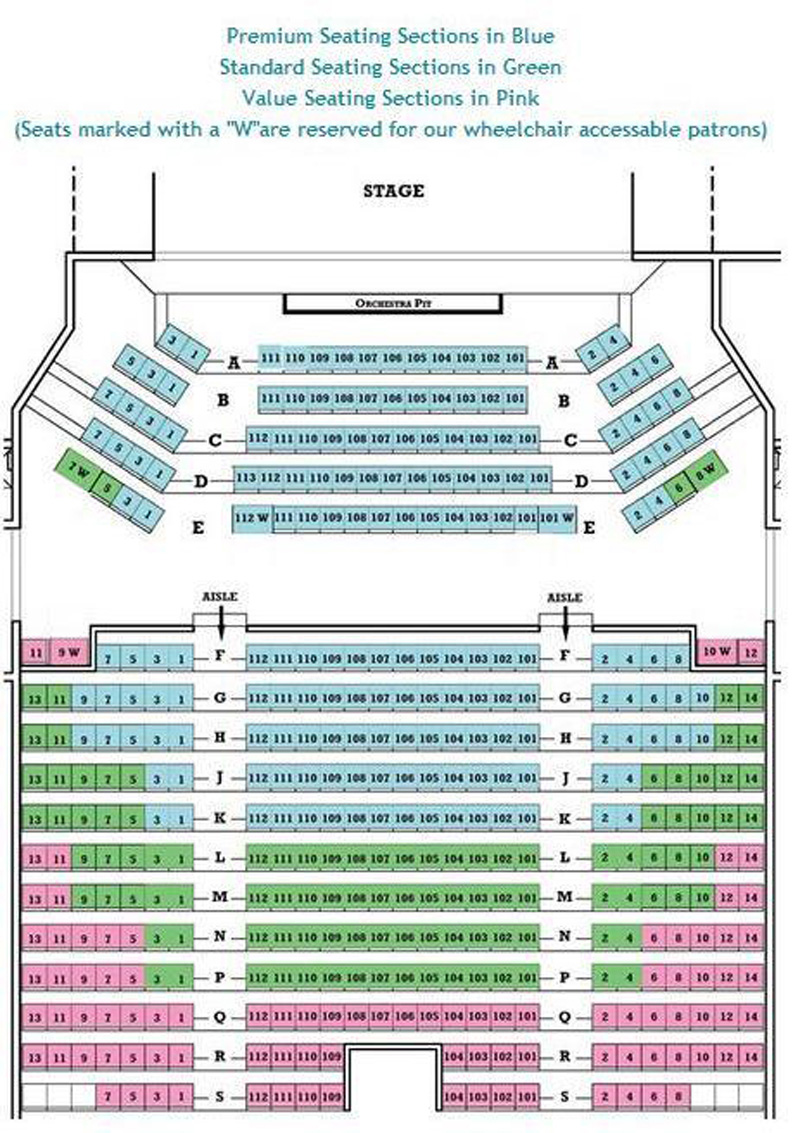Ocean State Theatre Seating Chart